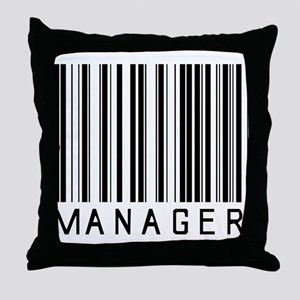 Manager Barcode Throw Pillow