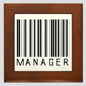 Manager Barcode Framed Tile