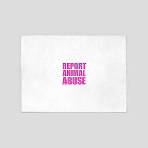 Report Animal Abuse 5'x7'Area Rug