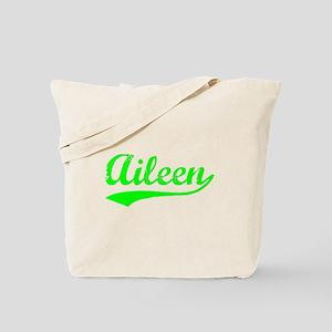 Vintage Aileen (Green) Tote Bag