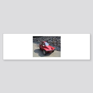 Red Freeway Mini Car Bumper Sticker