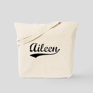 Vintage Aileen (Black) Tote Bag