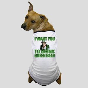Uncle Sam Green Beer Dog T-Shirt