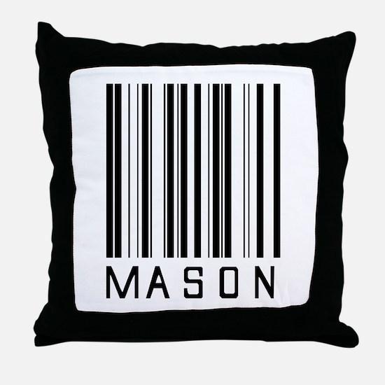 Mason Barcode Throw Pillow