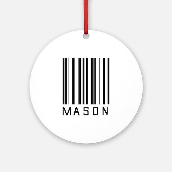 Mason Barcode Ornament (Round)