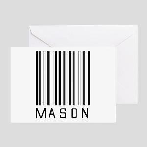 Mason Barcode Greeting Card