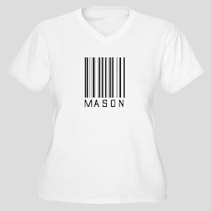 Mason Barcode Women's Plus Size V-Neck T-Shirt