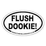 Flush Dookie Oval Sticker