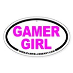 Gamer Girl Oval Sticker
