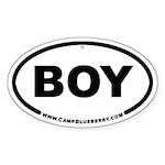 Boy Oval Sticker