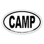 Camp Oval Sticker