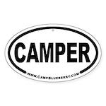 Camper Oval Sticker