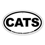 Cats Oval Sticker