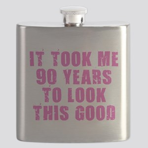 90 Years to Look Good Flask