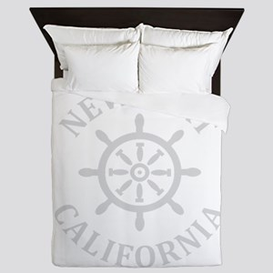 Summer newport- california Queen Duvet