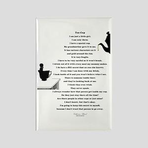 Tea Cup Poem Rectangle Magnet