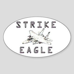 Strike Eagle Oval Sticker