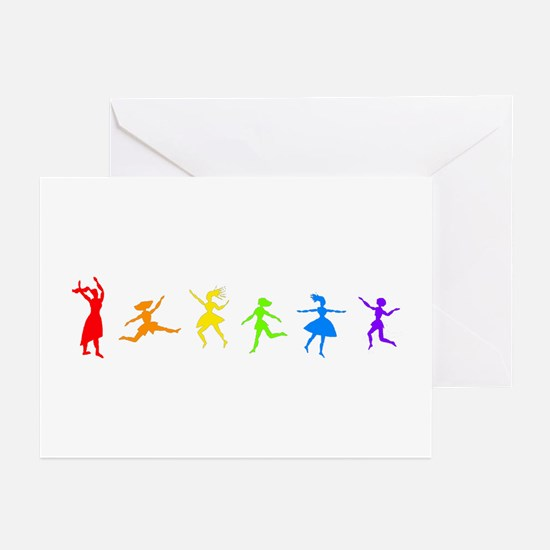 Dancing Women Greeting Cards (Pk of 10)