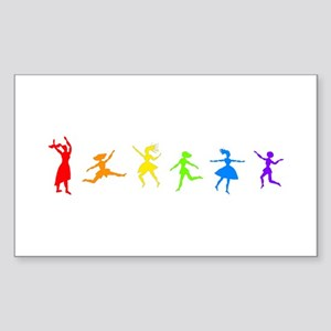 Dancing Women Rectangle Sticker