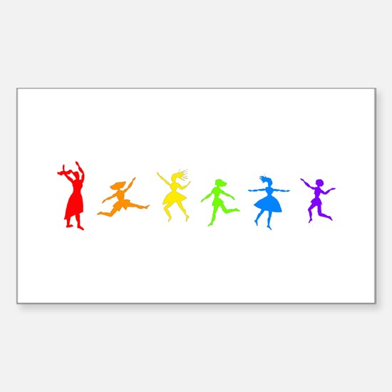 Dancing Women Rectangle Decal