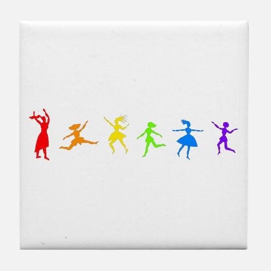 Dancing Women Tile Coaster