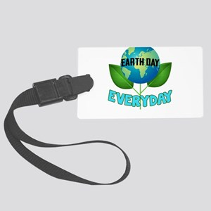 Earth Day Every Day Large Luggage Tag