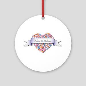 Love My Mailman Ornament (Round)