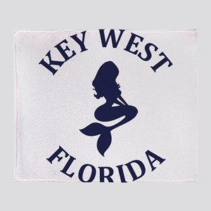Summer key west- florida Throw Blanket