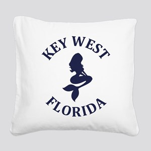 Summer key west- florida Square Canvas Pillow