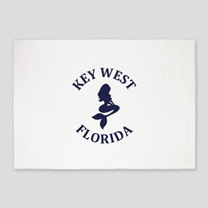Summer key west- florida 5'x7'Area Rug