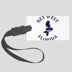 Summer key west- florida Large Luggage Tag