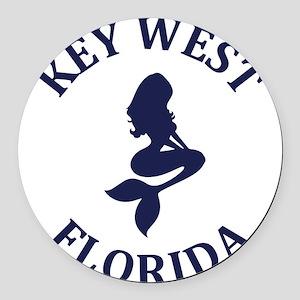 Summer key west- florida Round Car Magnet