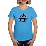 Anarchy Symbol Women's Dark T-Shirt