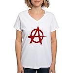 Anarchy Symbol Women's V-Neck T-Shirt