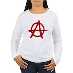 Anarchy Symbol Women's Long Sleeve T-Shirt