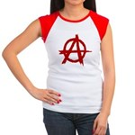 Anarchy Symbol Women's Cap Sleeve T-Shirt