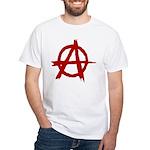 Anarchy Symbol White T-Shirt