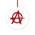 Anarchy Symbol Ornament (Round)