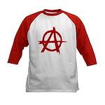 Anarchy Symbol Kids Baseball Jersey
