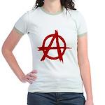 Anarchy Symbol Jr. Ringer T-Shirt