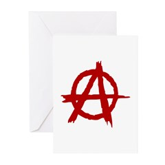 Anarchy Symbol Greeting Cards (Pk of 20)