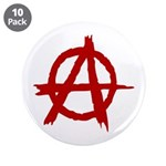 """Anarchy Symbol 3.5"""" Button (10 pack)"""