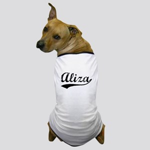 Vintage Aliza (Black) Dog T-Shirt