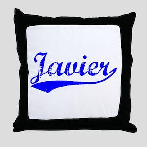 Vintage Javier (Blue) Throw Pillow