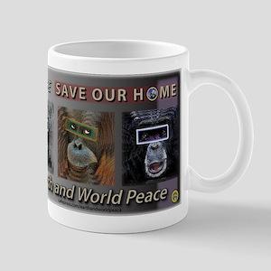 SOH: Great Apes 11 oz Ceramic Mug