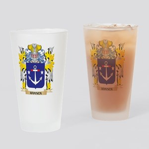 Hansen- Coat of Arms - Family Crest Drinking Glass