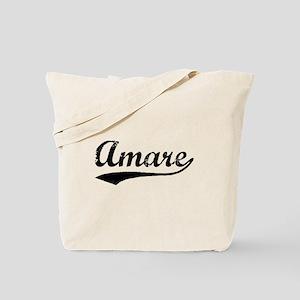 Vintage Amare (Black) Tote Bag