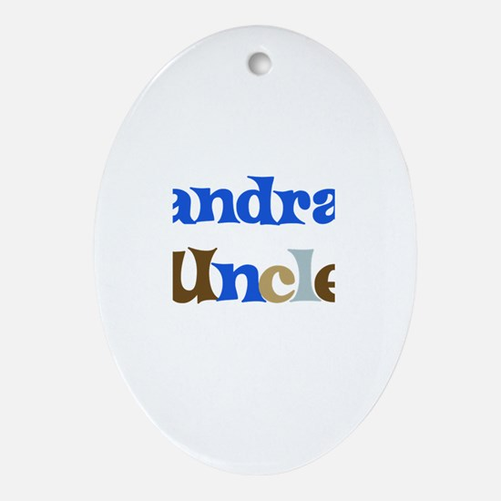 Sandra's Uncle Oval Ornament