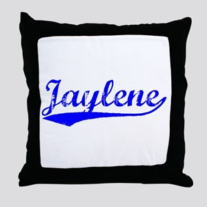 Vintage Jaylene (Blue) Throw Pillow