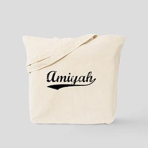 Vintage Amiyah (Black) Tote Bag